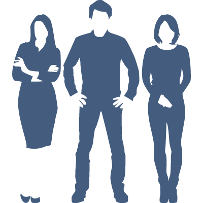Silhouette of recruiters