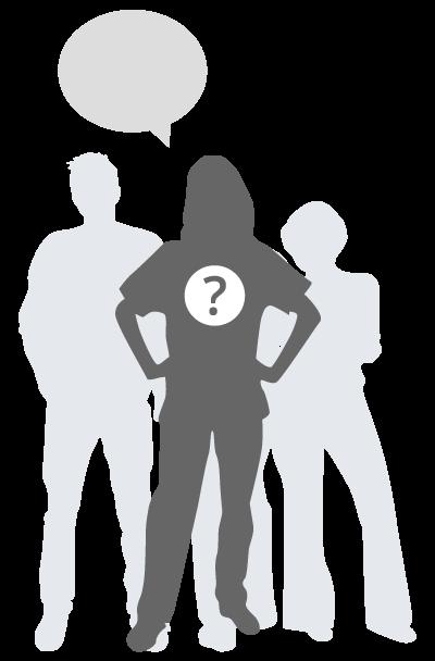 Target audience of a female nurse silhouette